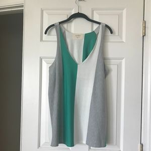 Anthropologie Colorblock Swing Tank Top XL